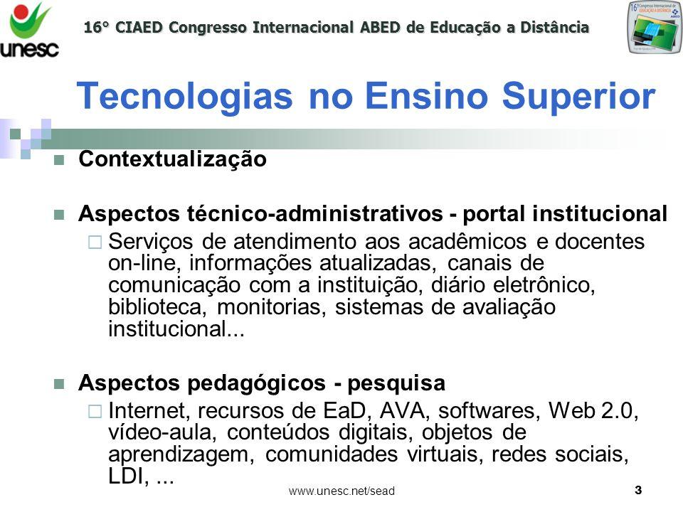 Tecnologias no Ensino Superior