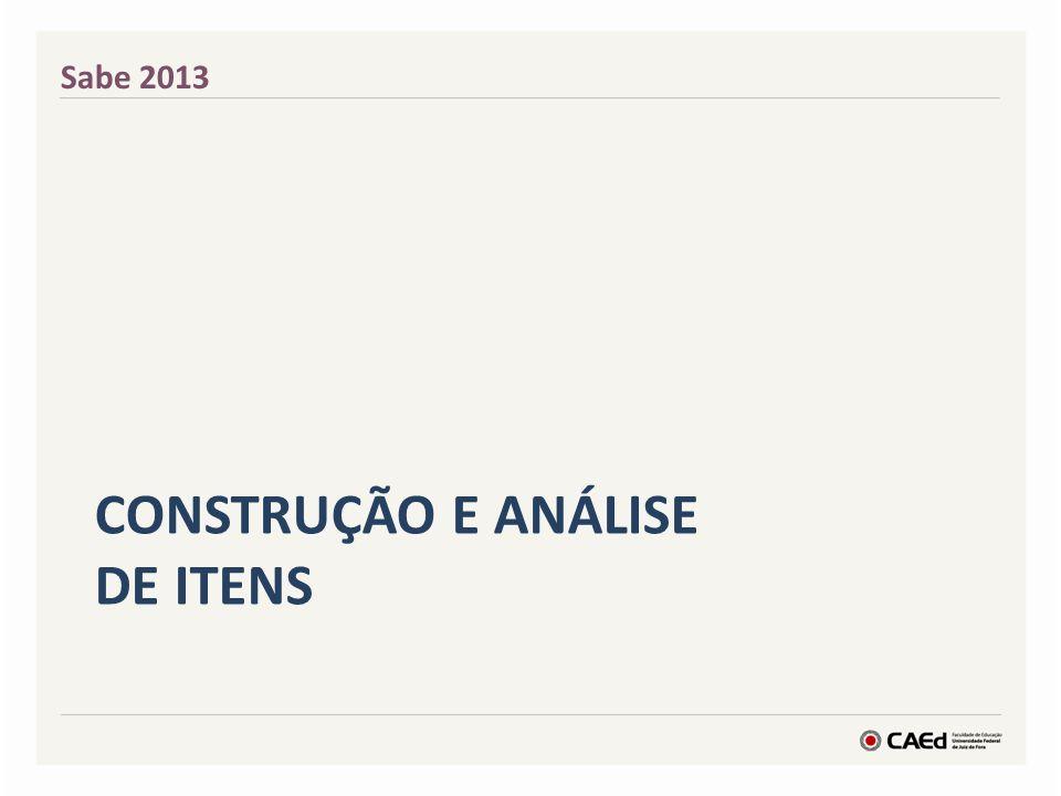 CONSTRUÇÃO E Análise de Itens