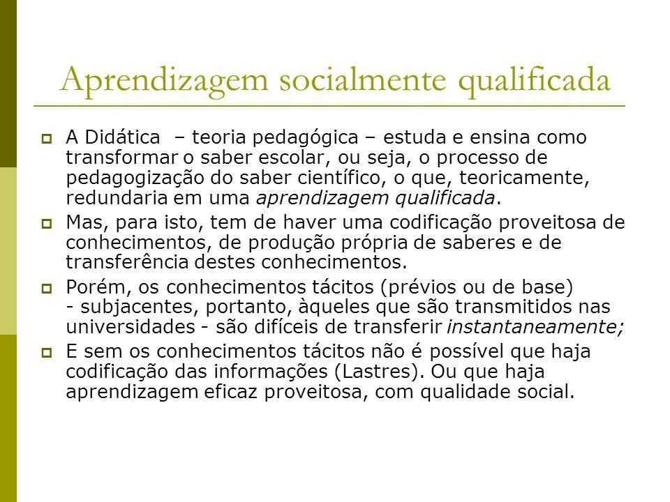 Aprendizagem socialmente qualificada