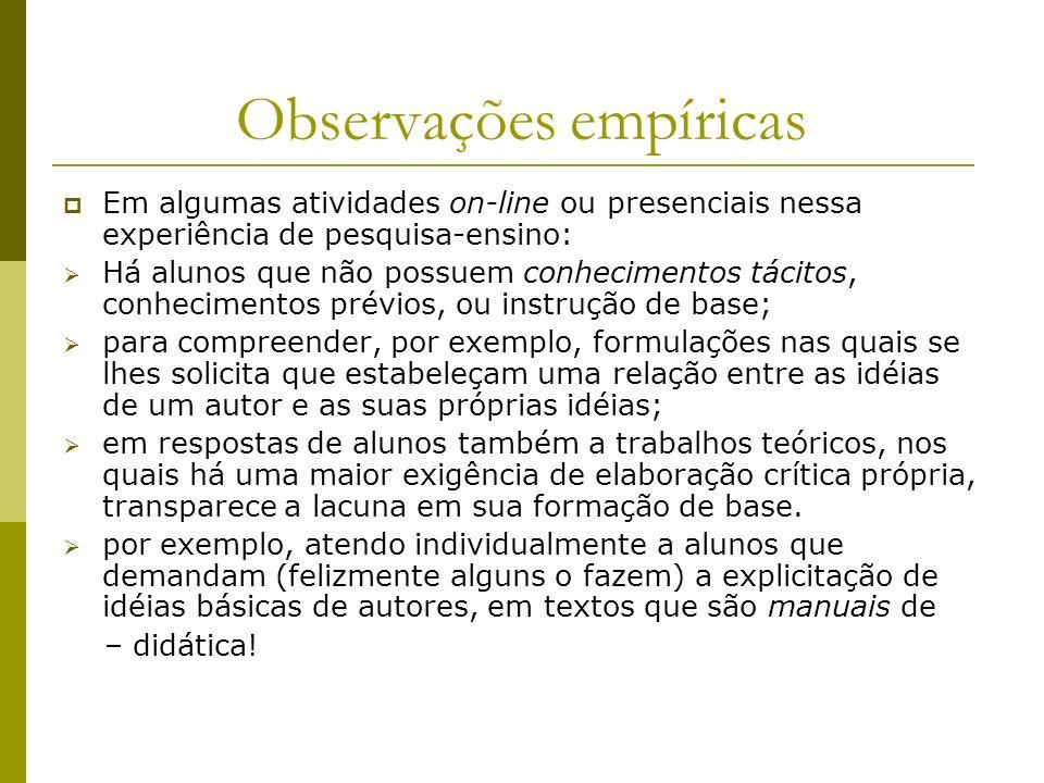 Observações empíricas