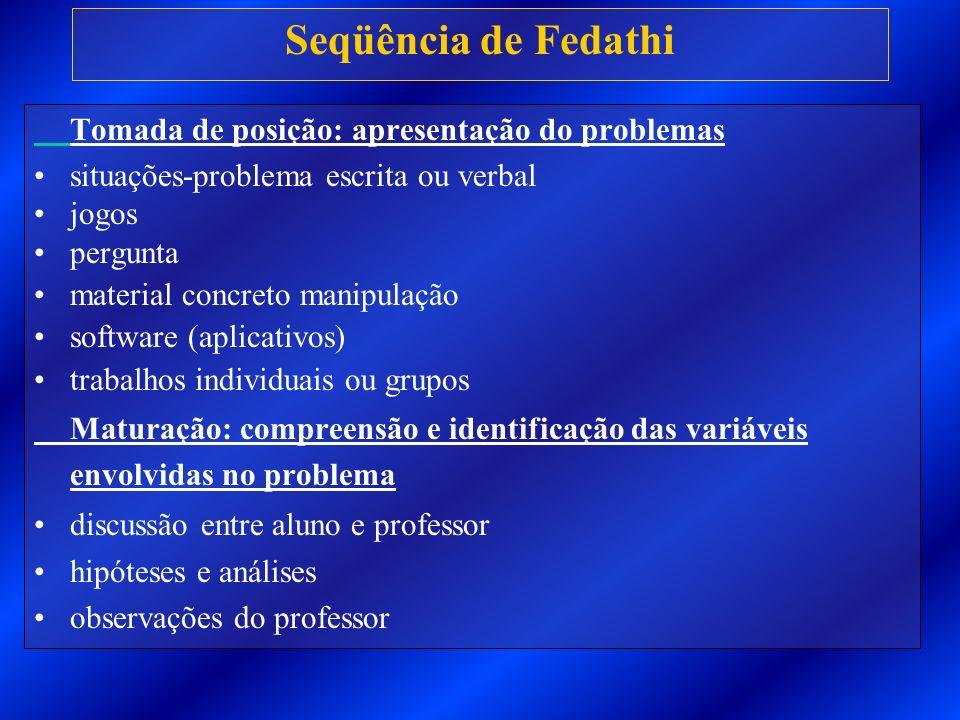 Seqüência de Fedathi Tomada de posição: apresentação do problemas