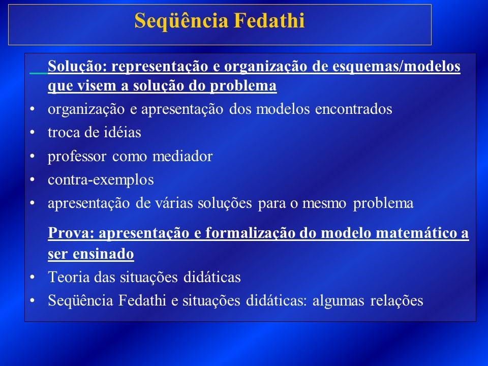 Prova: apresentação e formalização do modelo matemático a ser ensinado