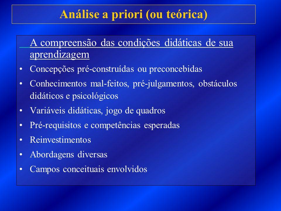 Análise a priori (ou teórica)