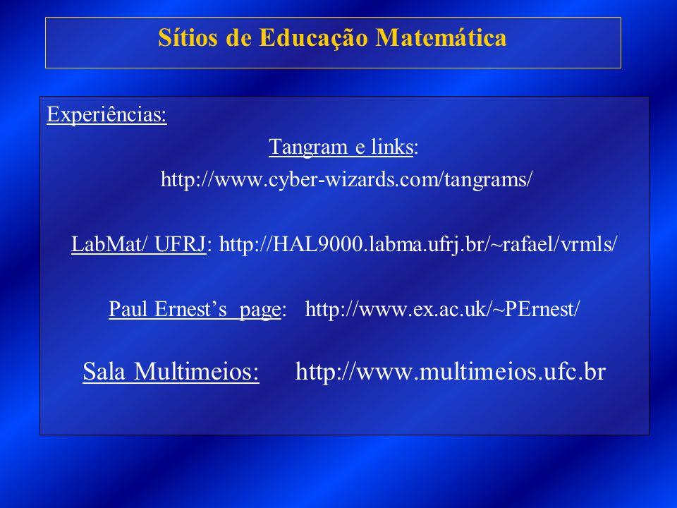 Sítios de Educação Matemática