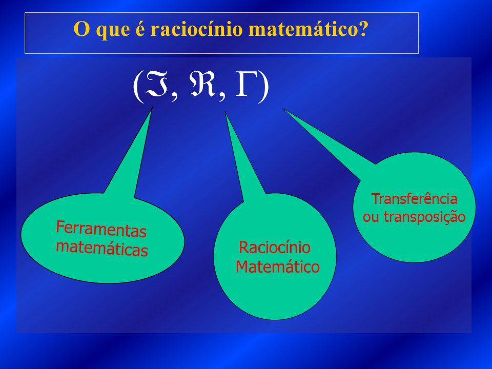 O que é raciocínio matemático