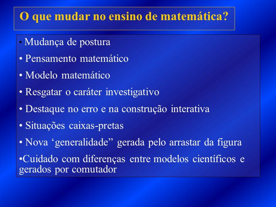 O que mudar no ensino de matemática