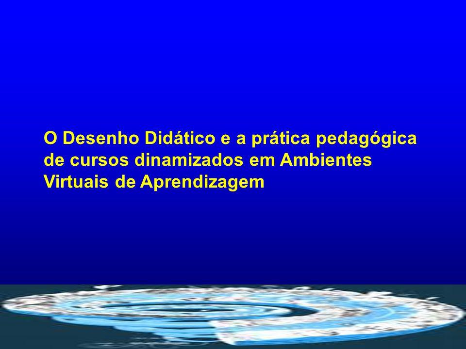 O Desenho Didático e a prática pedagógica de cursos dinamizados em Ambientes Virtuais de Aprendizagem