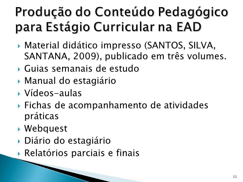 Produção do Conteúdo Pedagógico para Estágio Curricular na EAD