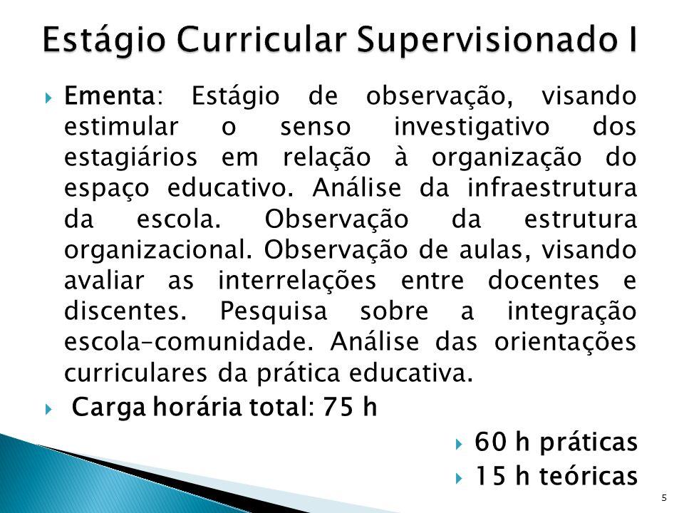 Estágio Curricular Supervisionado I