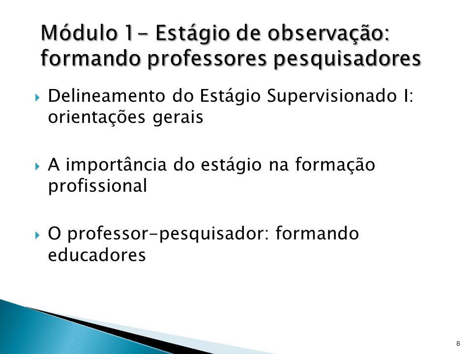 Módulo 1- Estágio de observação: formando professores pesquisadores
