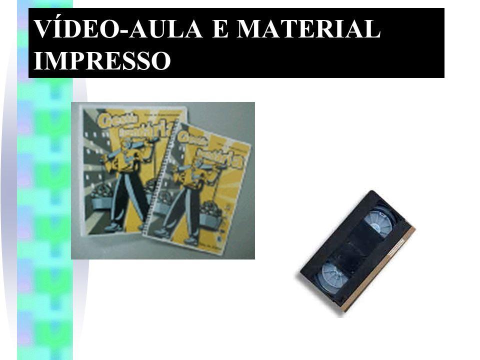 VÍDEO-AULA E MATERIAL IMPRESSO