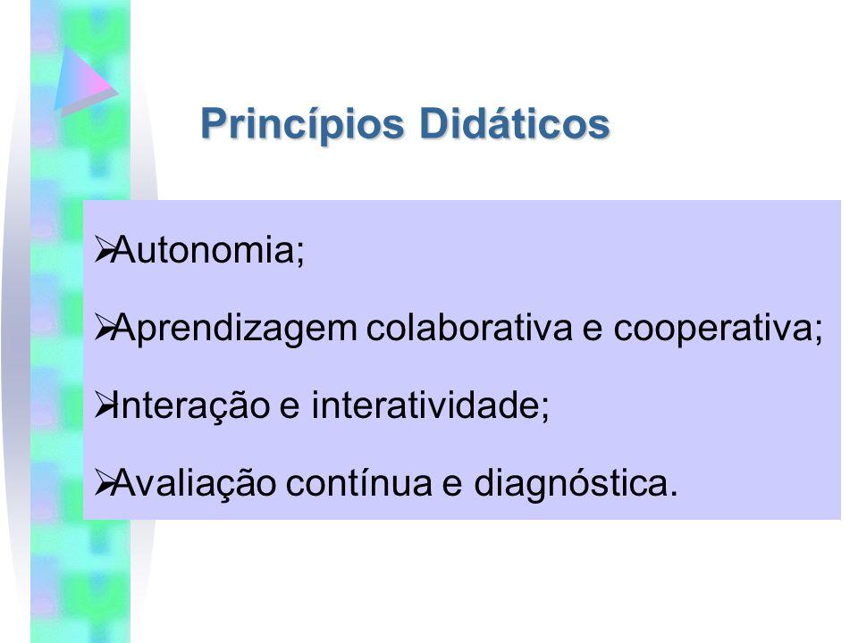 Princípios Didáticos Autonomia;