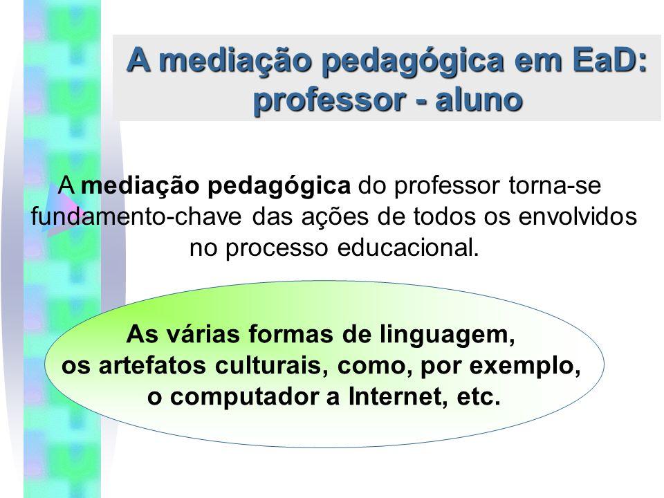 A mediação pedagógica em EaD: professor - aluno