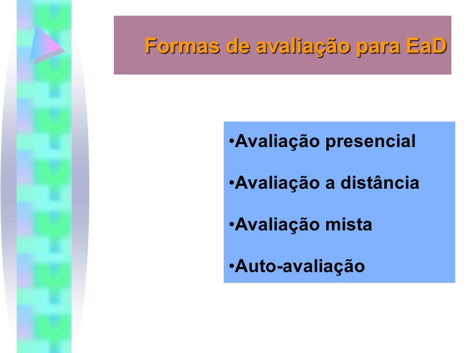 Formas de avaliação para EaD