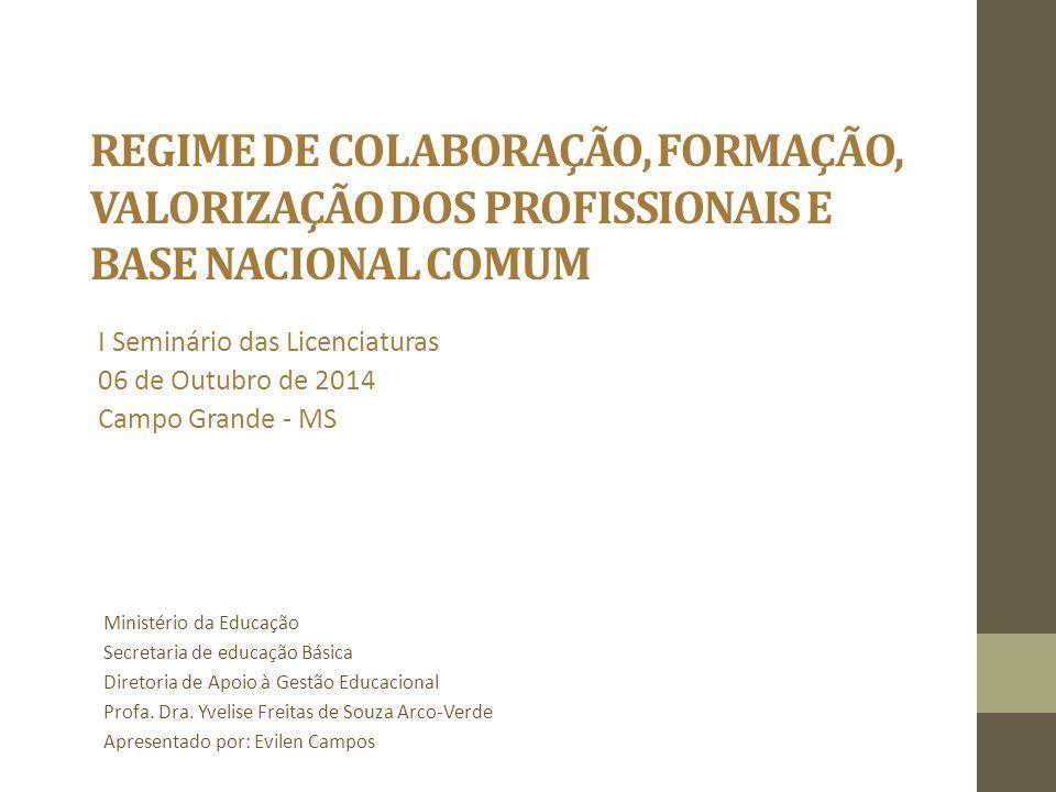 I Seminário das Licenciaturas 06 de Outubro de 2014 Campo Grande - MS