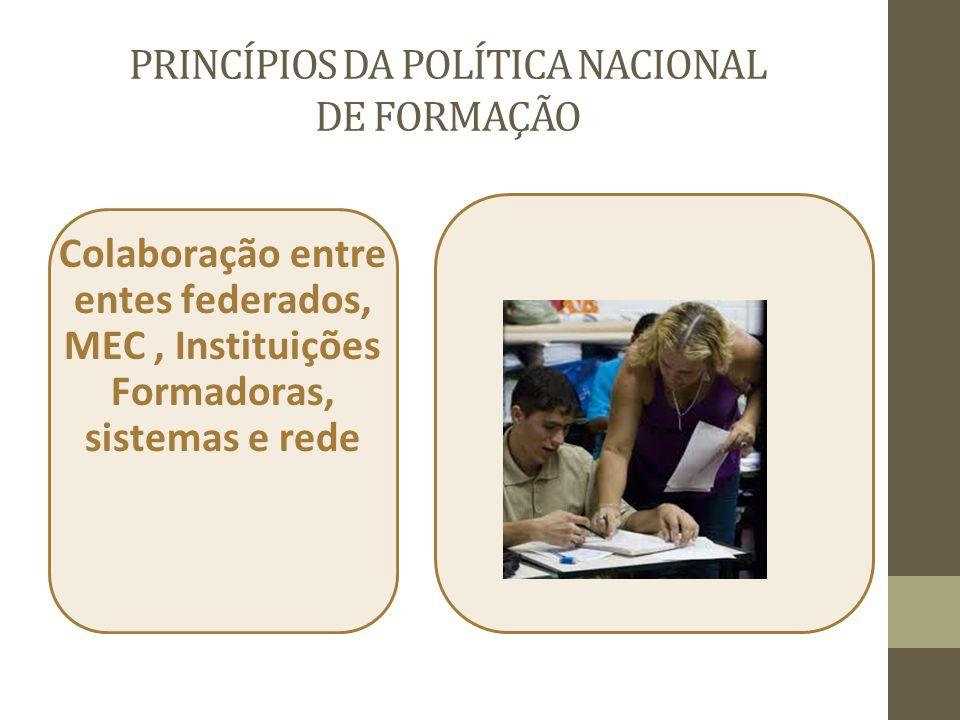 PRINCÍPIOS DA POLÍTICA NACIONAL DE FORMAÇÃO