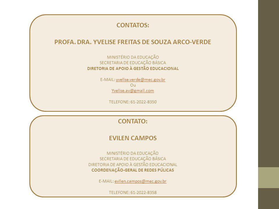 PROFA. DRA. YVELISE FREITAS DE SOUZA ARCO-VERDE