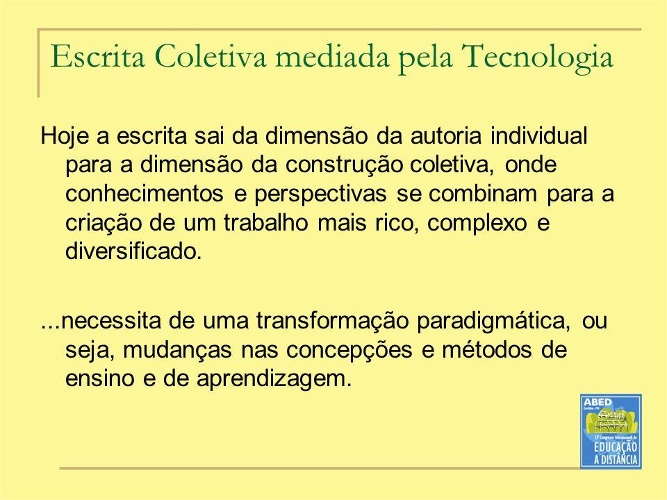 Escrita Coletiva mediada pela Tecnologia