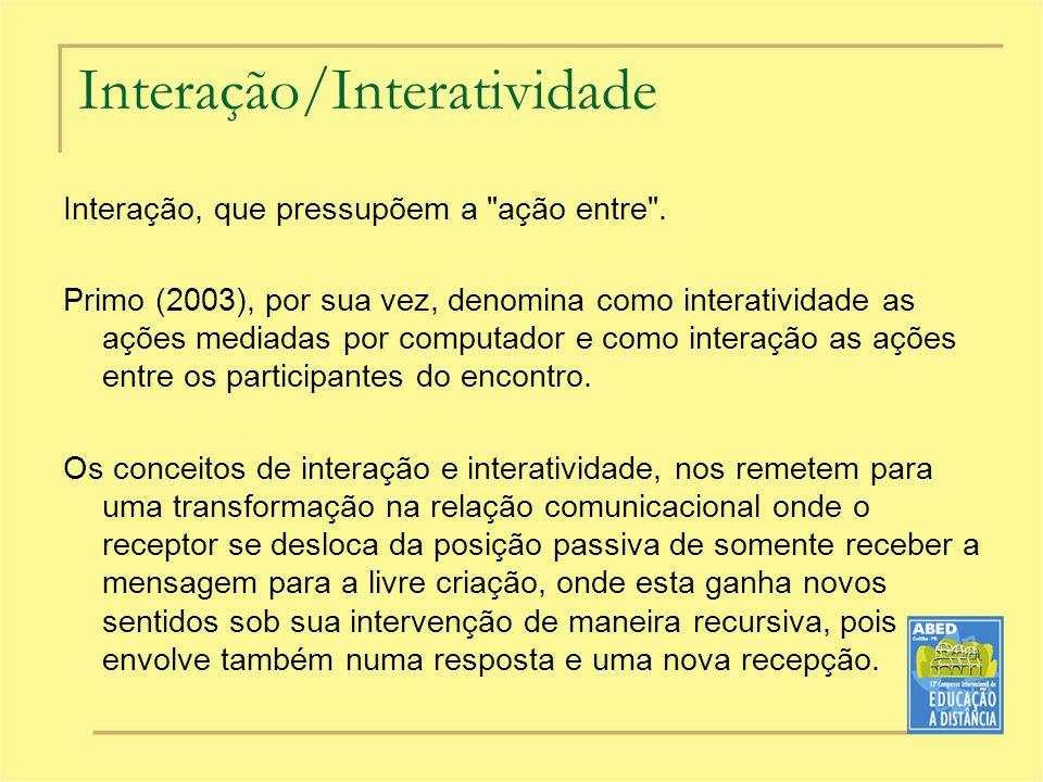Interação/Interatividade
