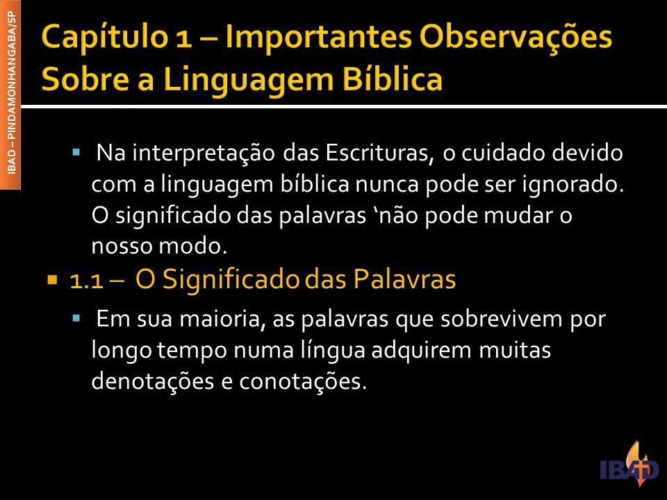 Capítulo 1 – Importantes Observações Sobre a Linguagem Bíblica