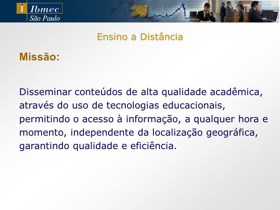Missão: Ensino a Distância