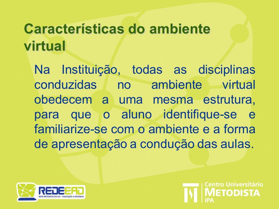Características do ambiente virtual