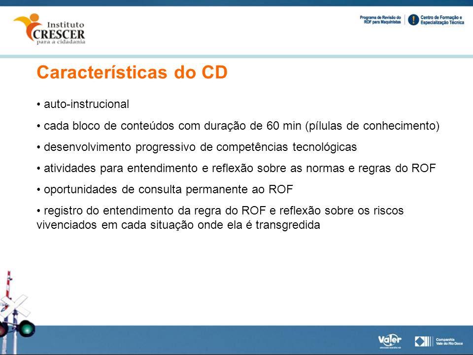 Características do CD auto-instrucional