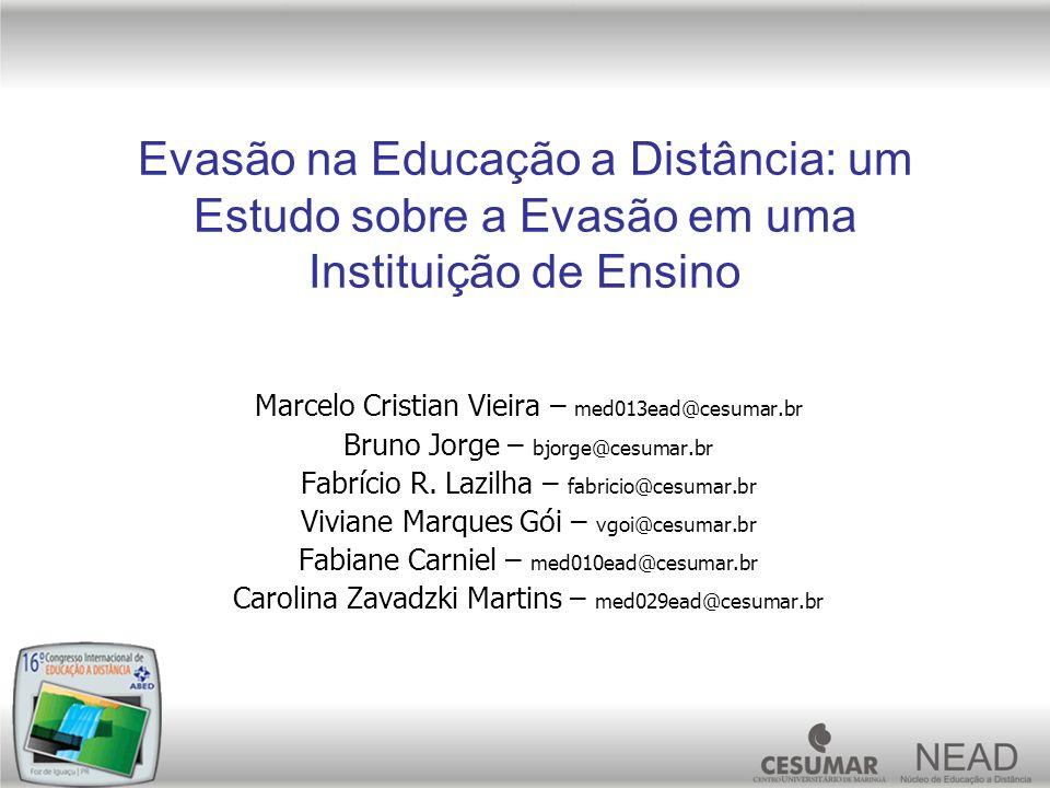 Evasão na Educação a Distância: um Estudo sobre a Evasão em uma Instituição de Ensino