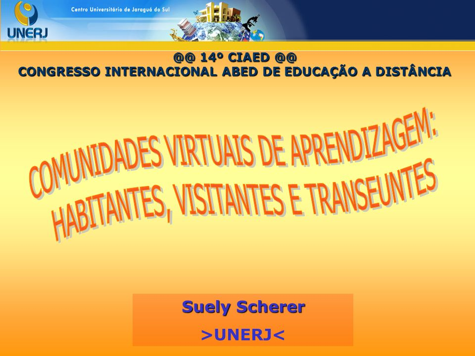 CONGRESSO INTERNACIONAL ABED DE EDUCAÇÃO A DISTÂNCIA