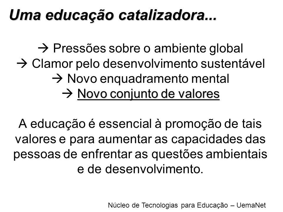 Uma educação catalizadora...
