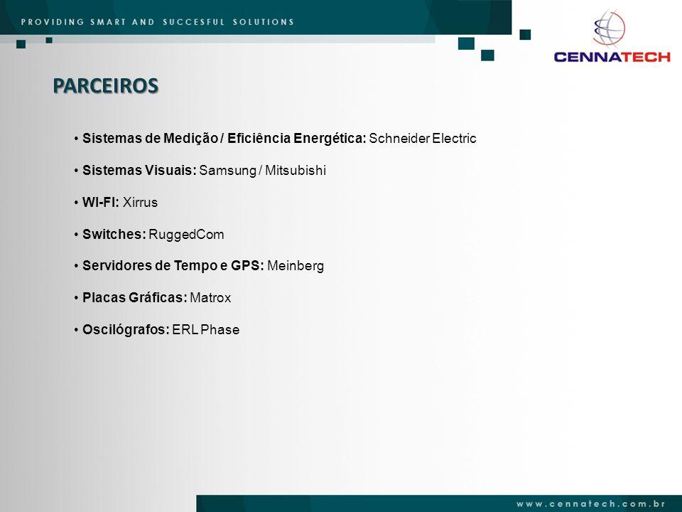 PARCEIROS Sistemas de Medição / Eficiência Energética: Schneider Electric. Sistemas Visuais: Samsung / Mitsubishi.