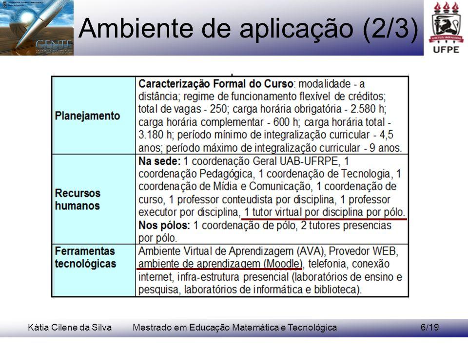 Ambiente de aplicação (2/3)