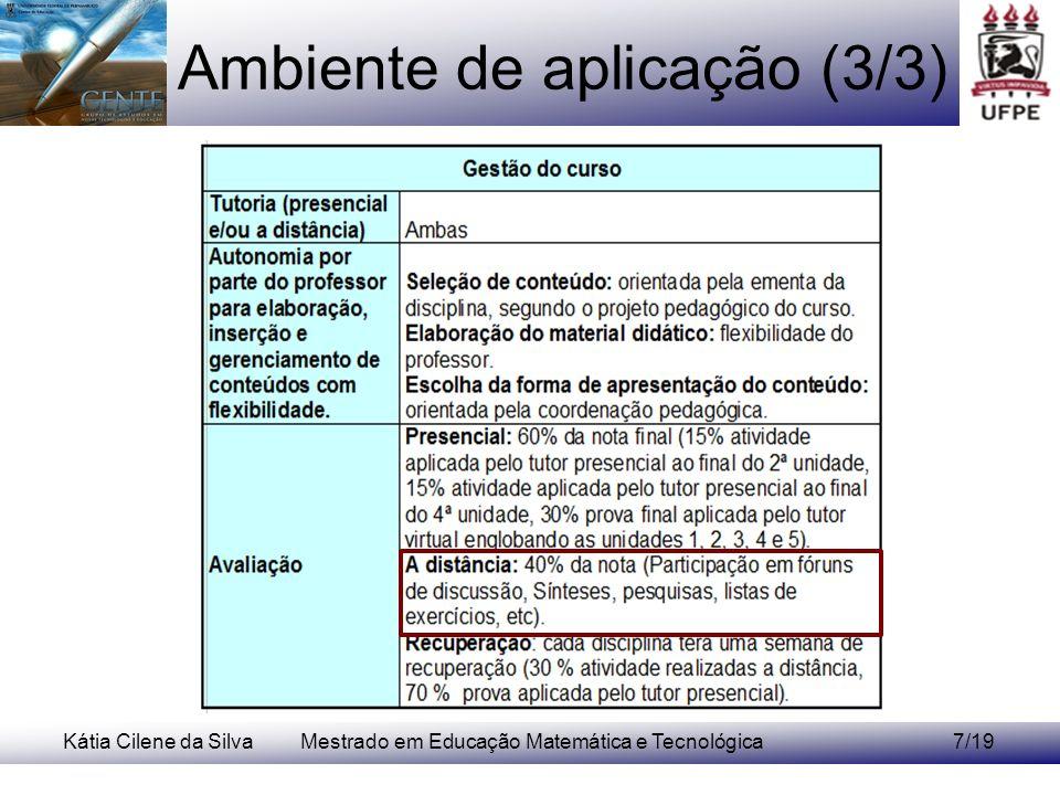 Ambiente de aplicação (3/3)