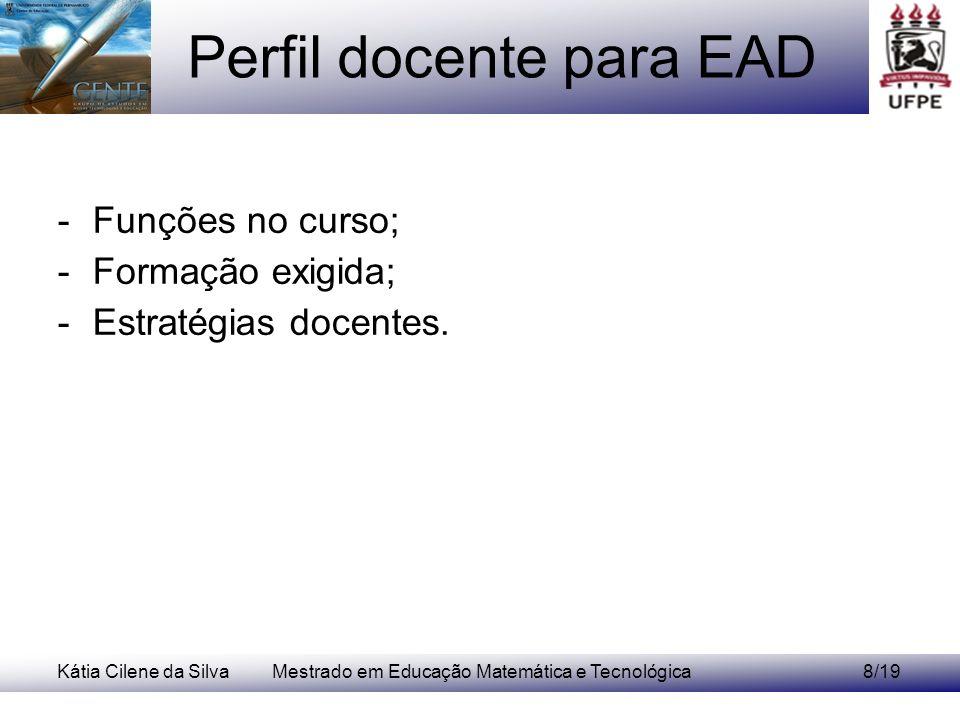 Perfil docente para EAD