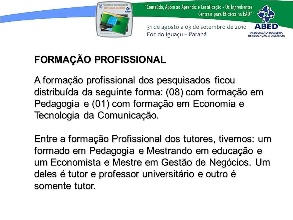 FORMAÇÃO PROFISSIONAL