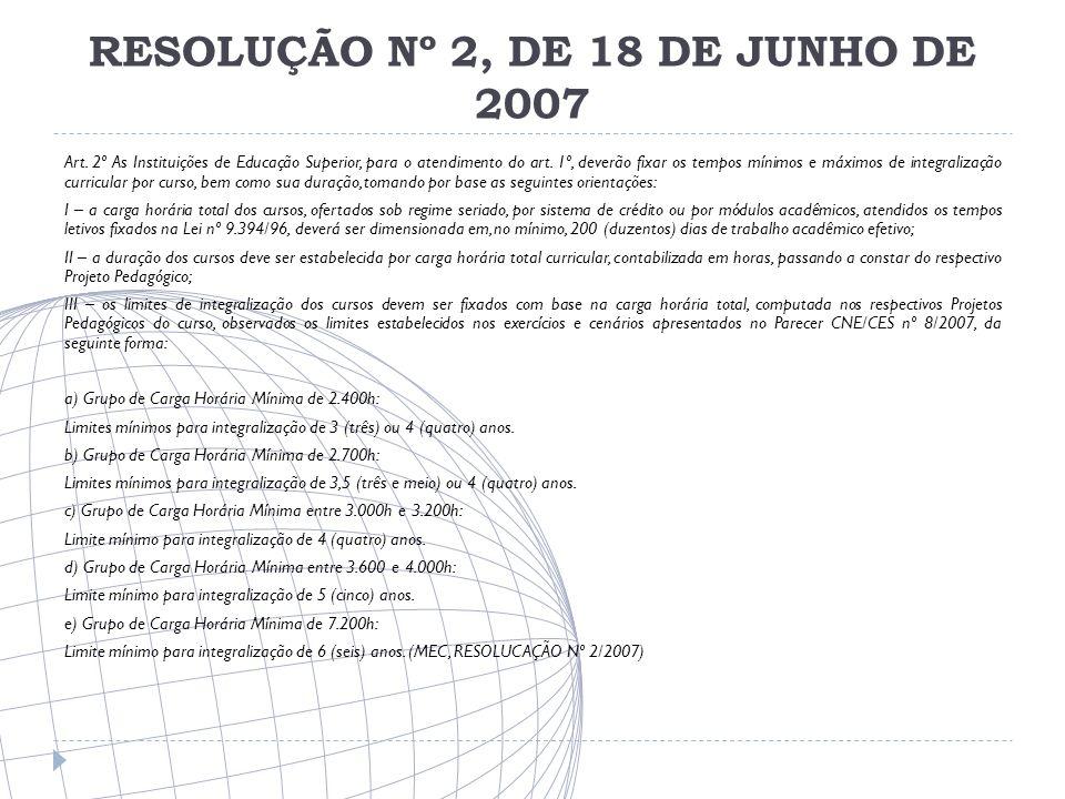 RESOLUÇÃO Nº 2, DE 18 DE JUNHO DE 2007