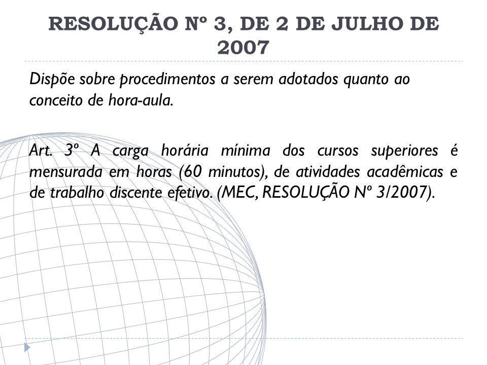 RESOLUÇÃO Nº 3, DE 2 DE JULHO DE 2007