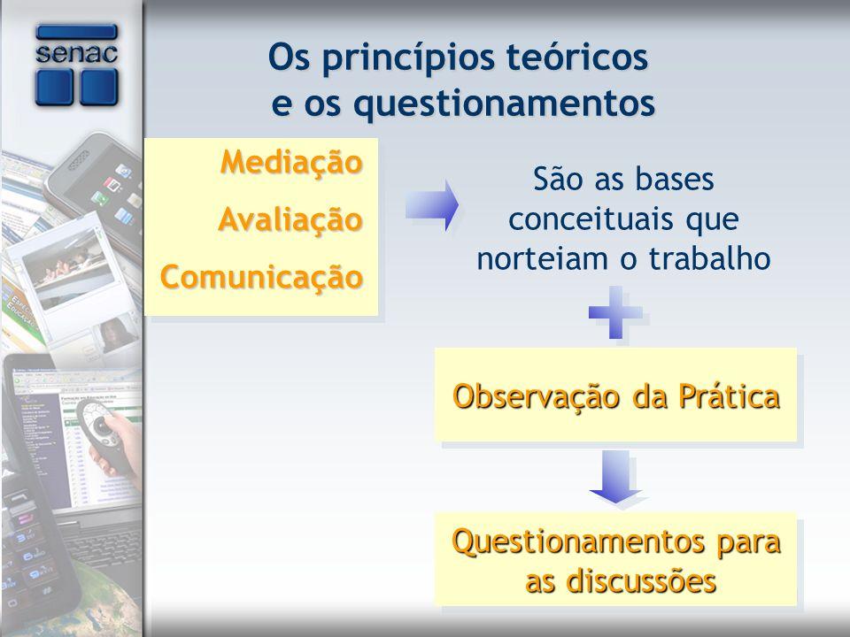 Os princípios teóricos e os questionamentos