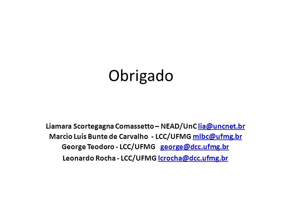Obrigado Liamara Scortegagna Comassetto – NEAD/UnC lia@uncnet.br