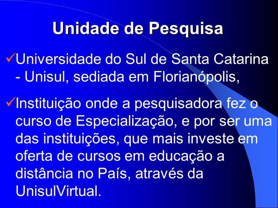 Unidade de Pesquisa Universidade do Sul de Santa Catarina - Unisul, sediada em Florianópolis,