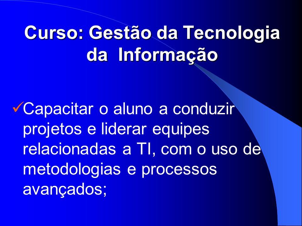 Curso: Gestão da Tecnologia da Informação