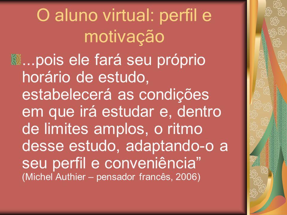 O aluno virtual: perfil e motivação