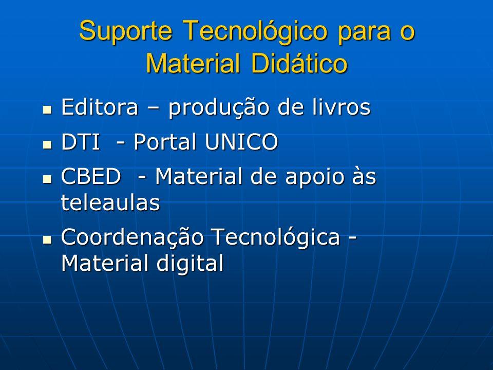 Suporte Tecnológico para o Material Didático