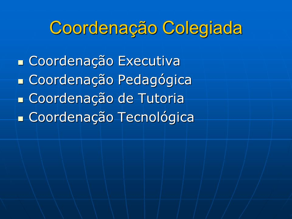Coordenação Colegiada