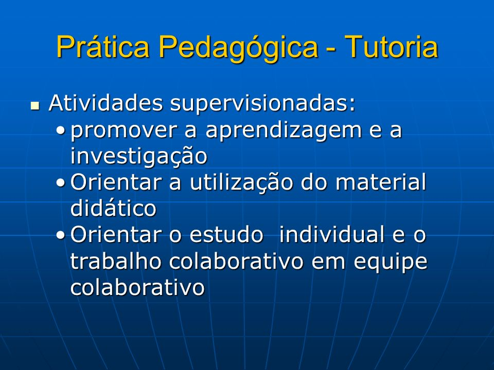 Prática Pedagógica - Tutoria