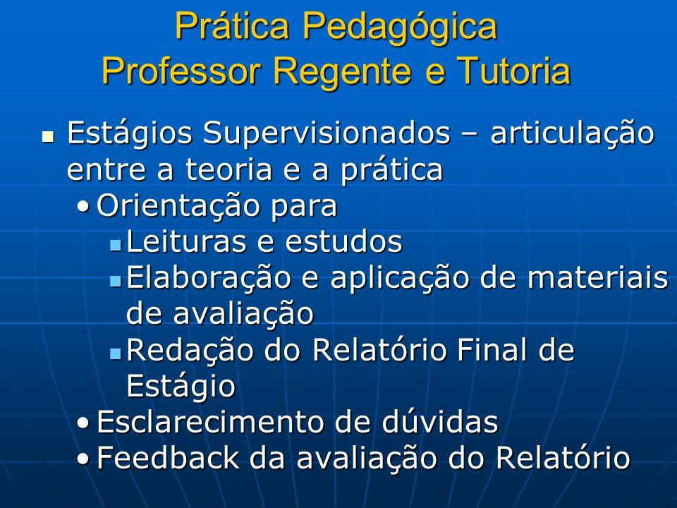 Prática Pedagógica Professor Regente e Tutoria