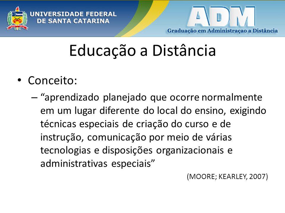 Educação a Distância Conceito:
