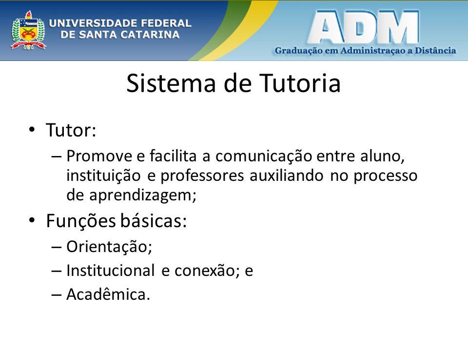 Sistema de Tutoria Tutor: Funções básicas: