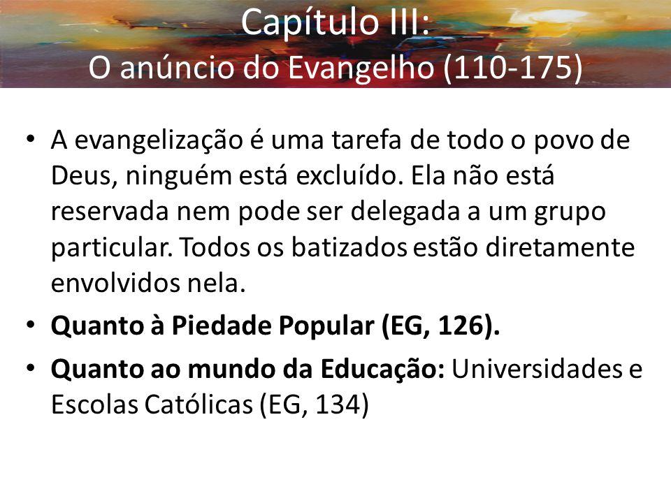 Capítulo III: O anúncio do Evangelho (110-175)