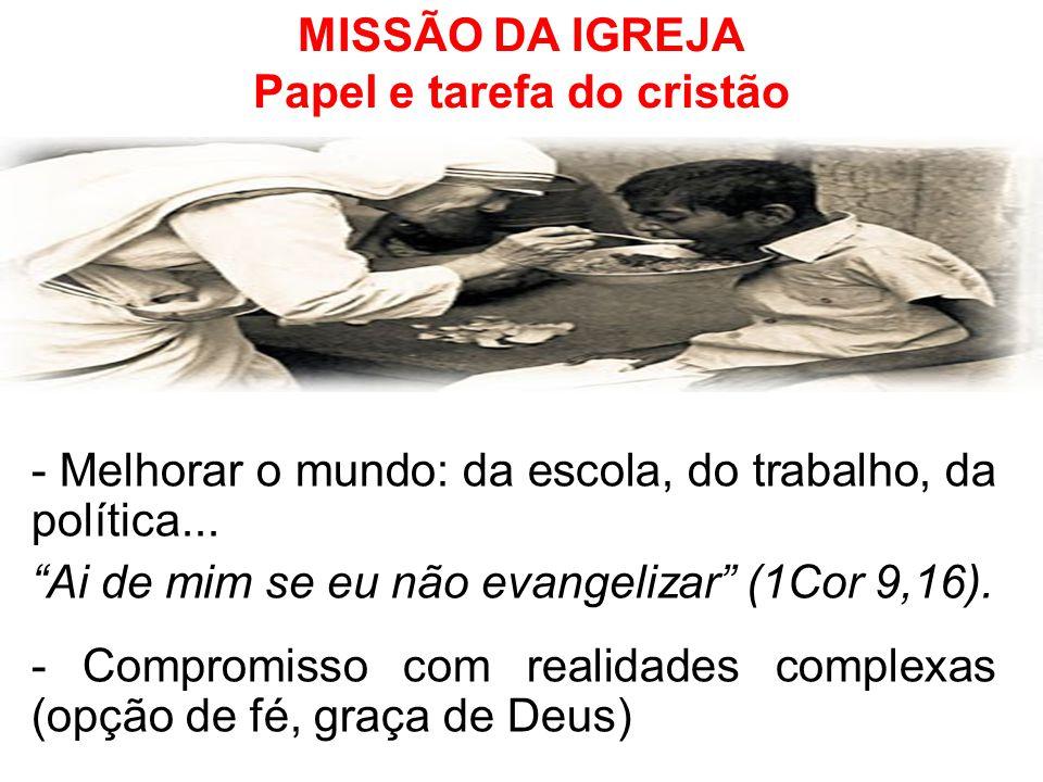 MISSÃO DA IGREJA Papel e tarefa do cristão